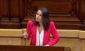 Inés Arrimadas, de C's, en el debate sobre política general de Cataluña
