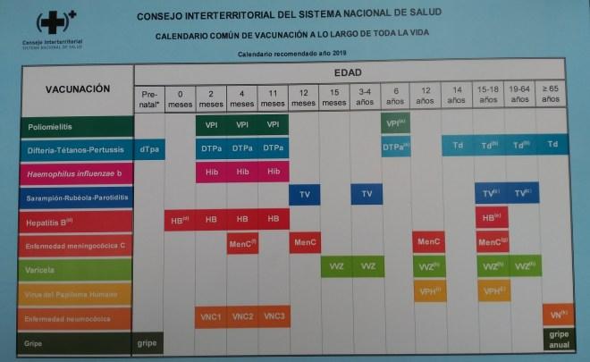 Calendario vacunal para toda la vida en el SNS