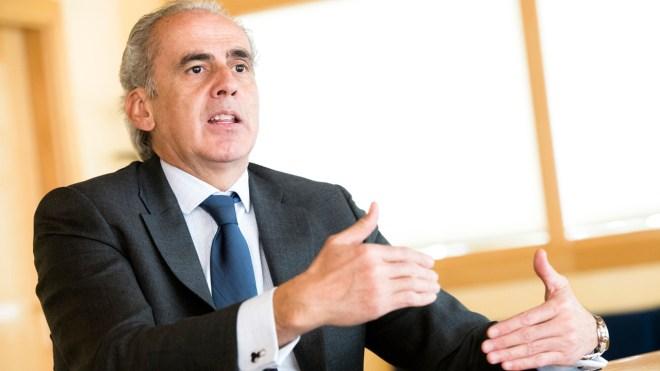 Enrique Ruiz Escudero, consejero de Sanidad de Madrid, durante la entrevista con DM.