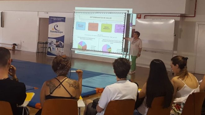 María Sainz, fundadora de Fundaeps y Pajeps, en la inauguración del programa Pajeps 2019.