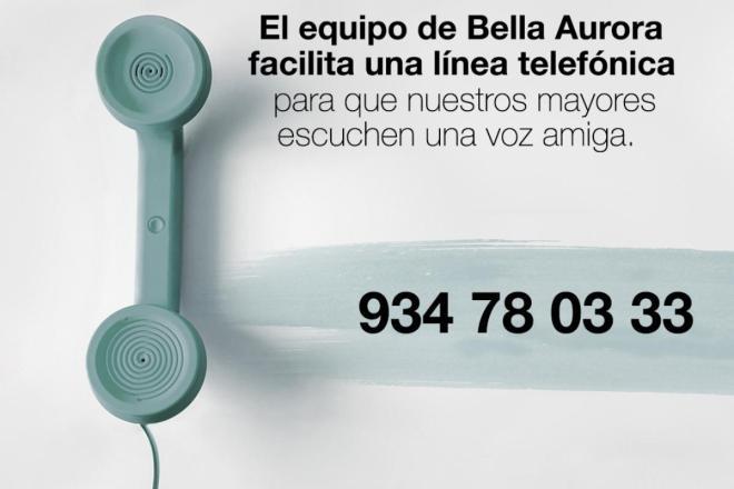 Bella Aurora ha habilitado una línea telefónica para que los mayores escuchen una voz amiga