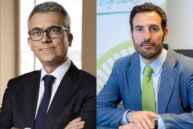 Jesus Ponce, presidente del Grupo Novartis, y Joaquín Rodrigo, director general de Sandoz.