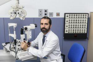 Pedro Arriola, de la USIO del Servicio de Oftalmología del Hospital Clínico de Madrid.