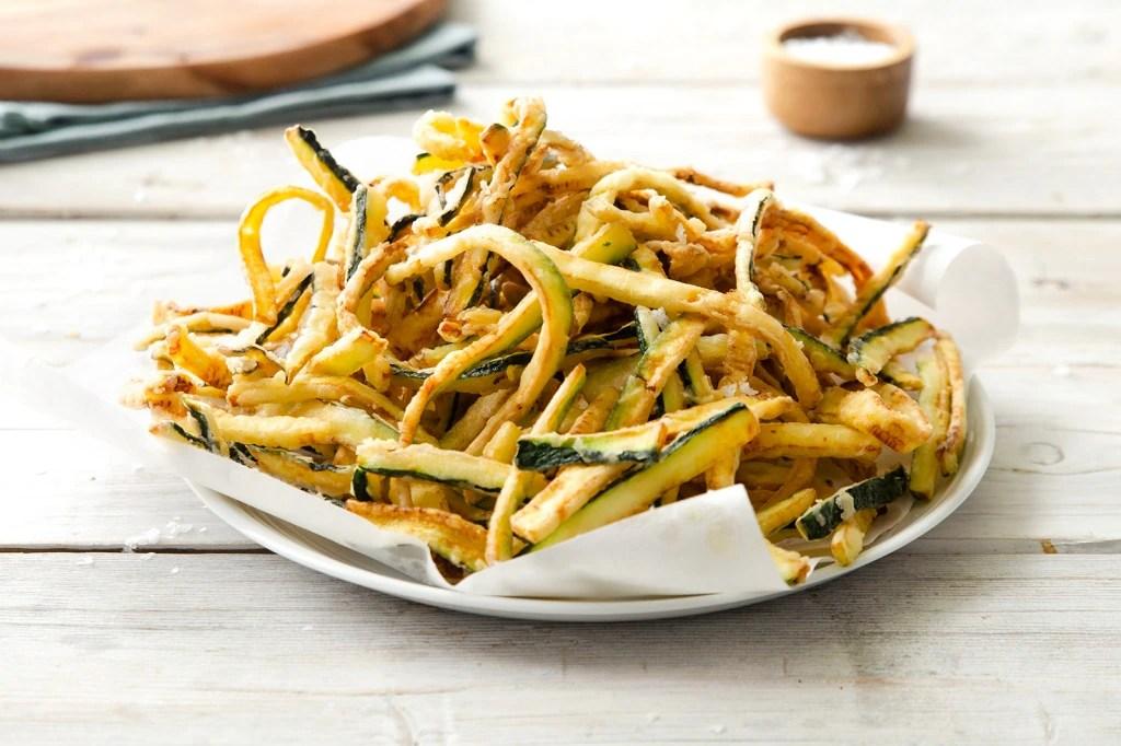 Ricetta Zucchine fritte alla romana  Cucchiaio dArgento