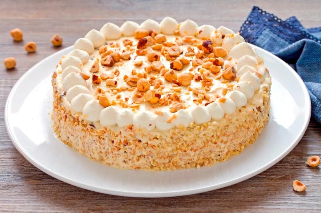 Ricetta Torta di nocciole e crema gianduia  Cucchiaio d