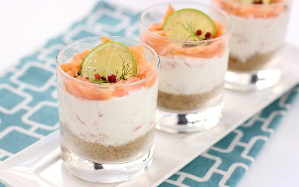Ricetta Cheesecake al salmone lime e pepe rosa