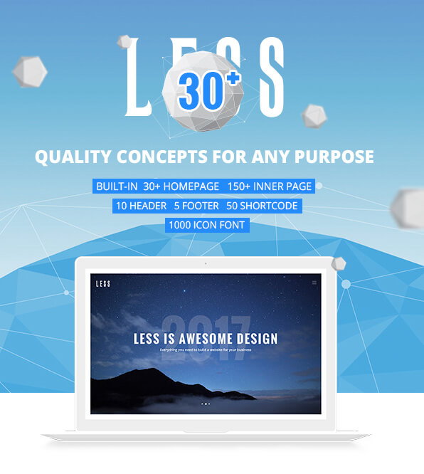 Less Multi Purpose WordPress Theme