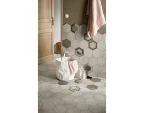 carrelage murs et sols goal hexagonal 21 x 18 2 cm