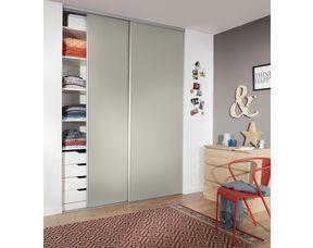 porte de placard coulissante glisseo decor gris