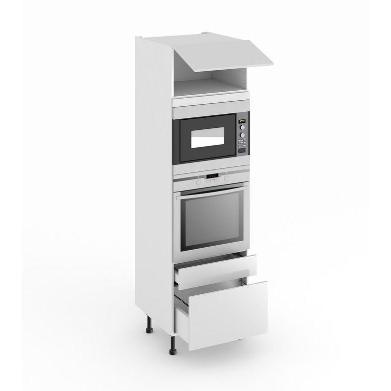 Colonne de cuisine pour four et niche de h cm cuisine for Meuble cuisine pour four et micro onde