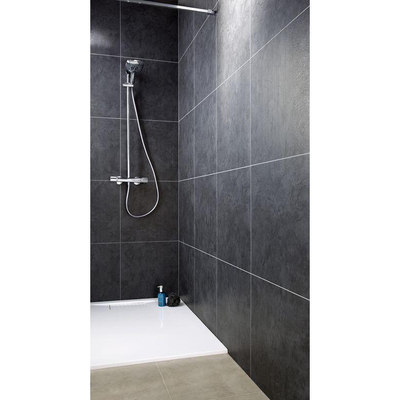 Lambris PVC Element premium noir ardoise  Salle de bains