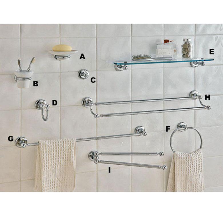 Accessoires de salle de bains GLAMOUR  Porteserviettes mobile  Salle de bains