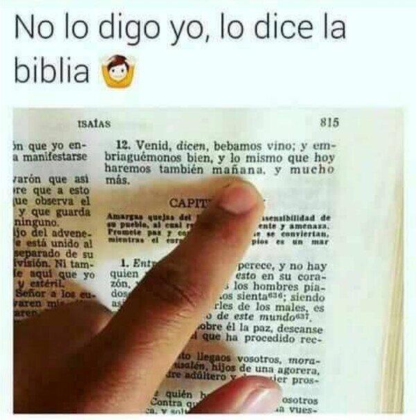 La biblia ha hablado