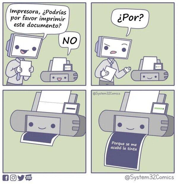 ¿Por qué las impresoras son tan trolls?