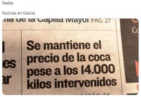 Noticias de interés general en Galicia