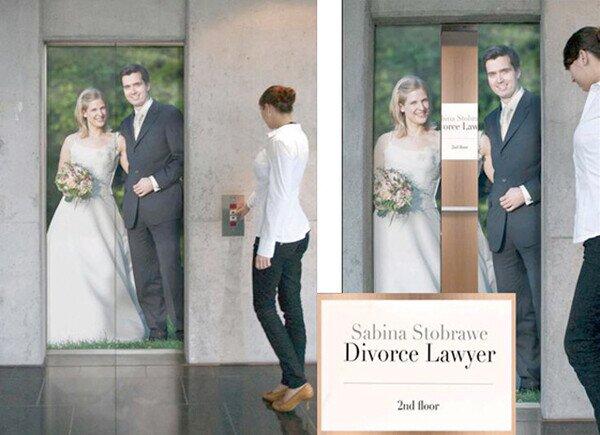 La publicidad perfecta para un abogado de divorcios