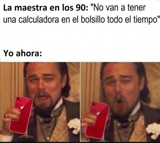 ¿Qué decía, profesora?