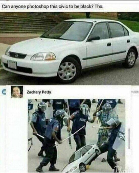 ¿Alguien puede photoshopear este coche para que sea negro?