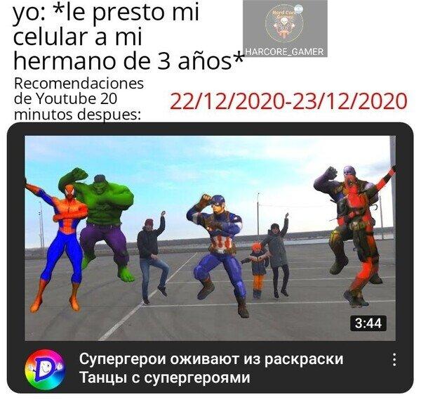 Las recomendaciones de YouTube