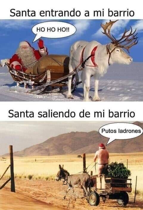 No es un barrio seguro, Santa