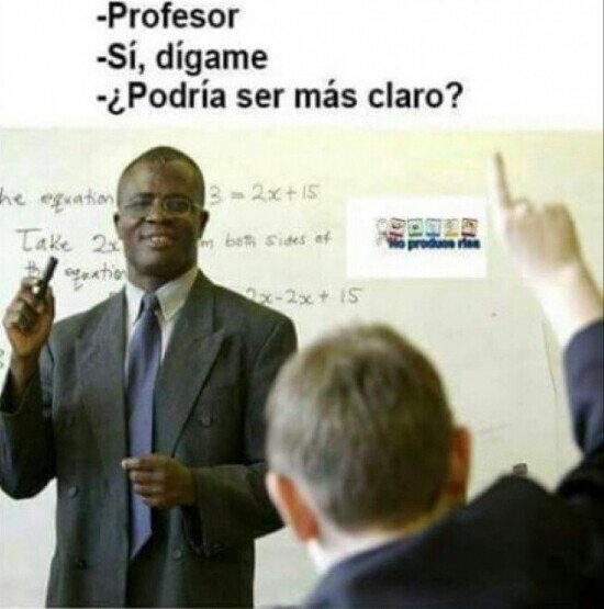 Hay preguntas que no debes hacerle a según qué profesor