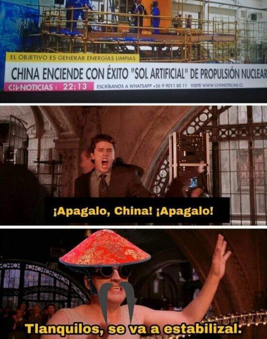 ¡China! ¿enloqueciste?