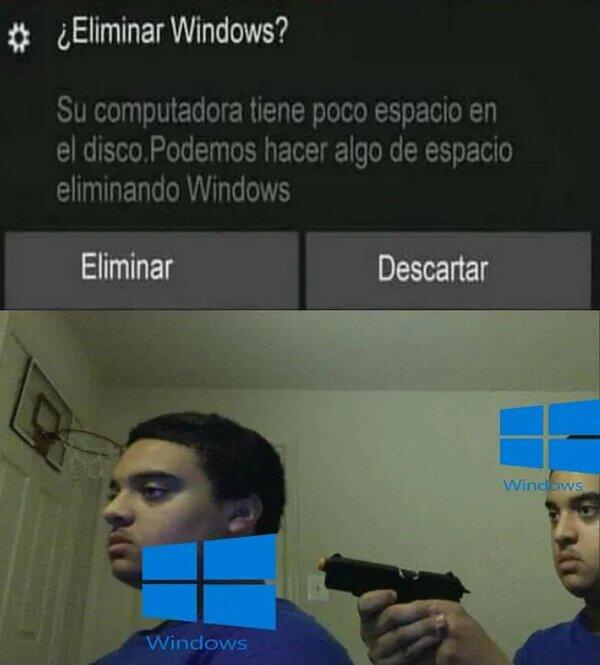 Windows se hirió a si mismo