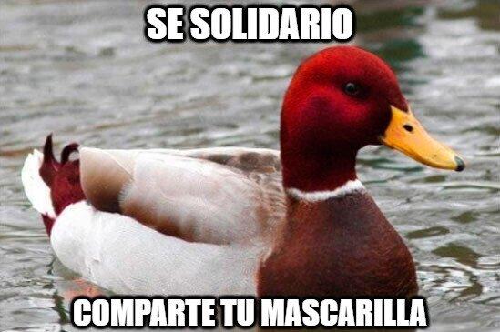 Sé solidario...