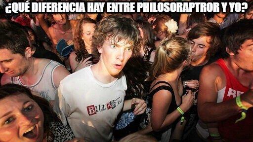¿Qué diferencia hay entre philosoraptror y yo?
