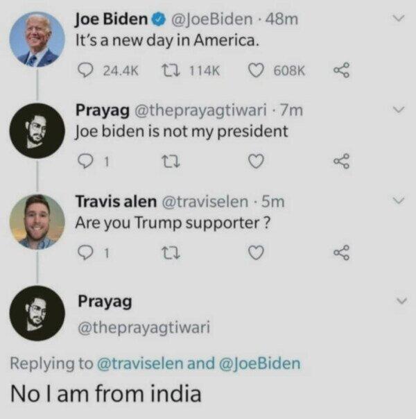 Pues no, no era su presidente