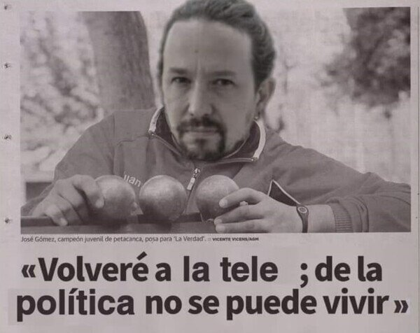 Pablo Iglesias en estos momentos