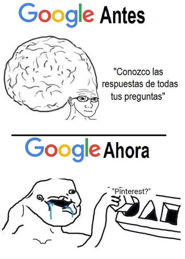 ¿Qué te ha pasado, Google?