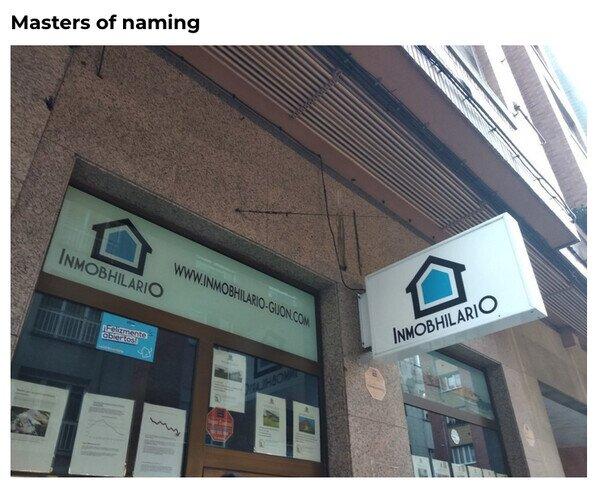 Si te llamas Hilario y tienes una inmobiliaria...