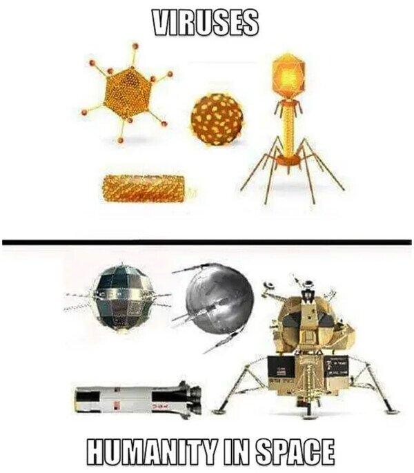 Somos un virus para el espacio