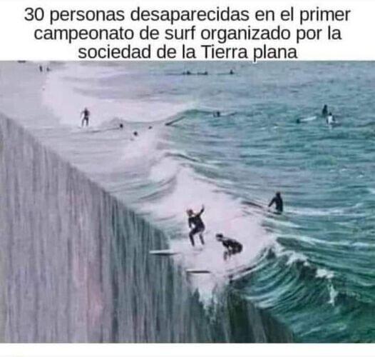 Surferos terraplanistas