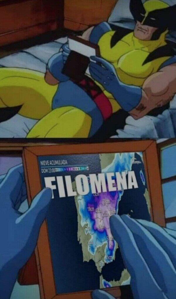 ¿Echando de menos a Filomena eh?