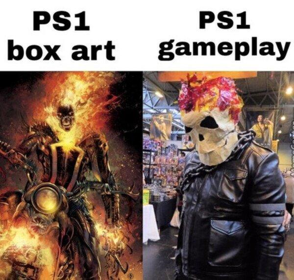 Menuda estafa eran las cajas de los juegos de PS1