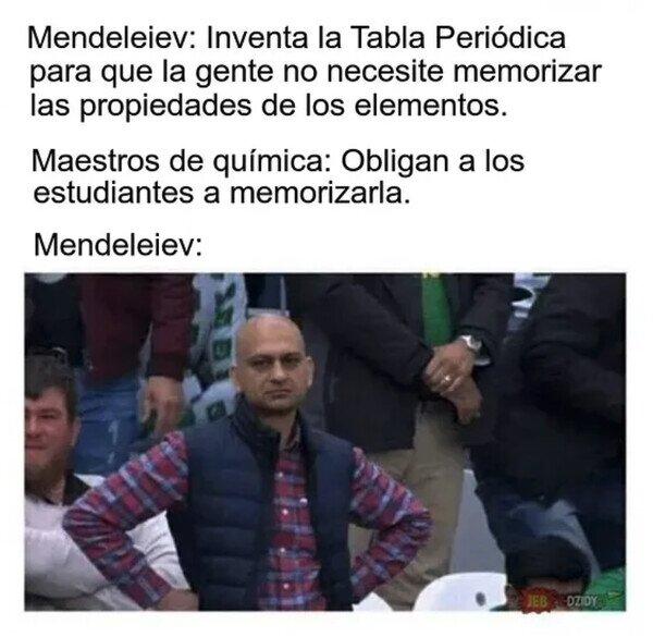 Si Mendeleiev levantara la cabeza