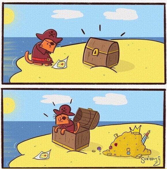 El verdadero tesoro para un gato