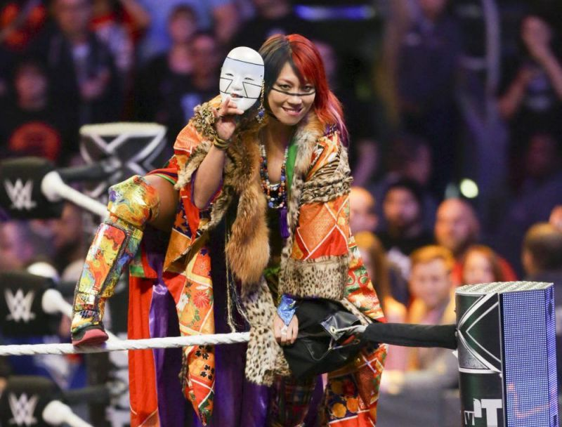 Asuka prior to Survivor Series