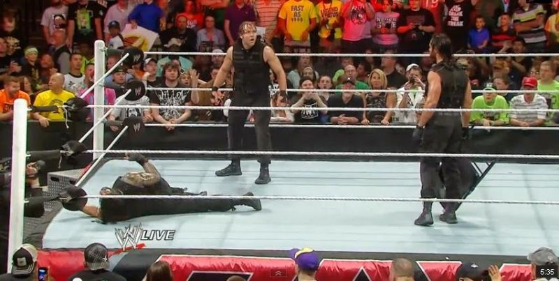Seth Rollins betrays The Shield
