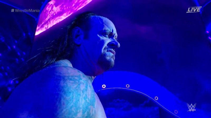 This is the face The Undertaker made after defeating Cena at WrestleMania 34