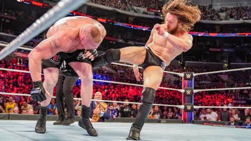 Brock Lesnar and Daniel Bryan at Survivor Series