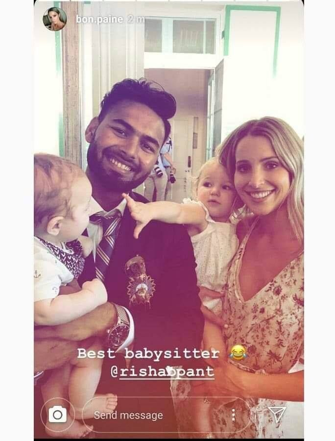 Rishabh Pant Reveals His Conversation With Tim Paine's Wife