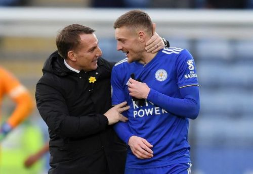 Vardy is getting along well with new manager Brendan Rodgers.