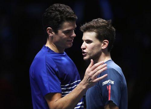 Raonic and Thiem at 2016 Barclays ATP World Tour Finals