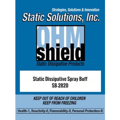 Ohm-Shield SB-2028 Spray Buff Cleans Dirt, Scratches, and Scuffs ESD