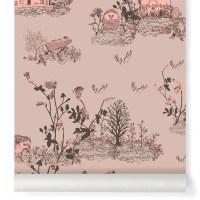 Woodland classic wallpaper - powder pink Sian Zeng Design