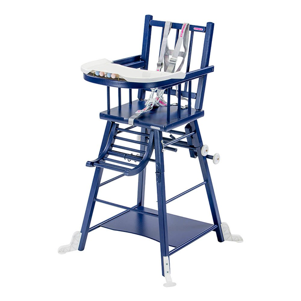 Convertible High Chair  Varnished Navy blue Combelle