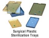 Surgical plastic sterilization trays